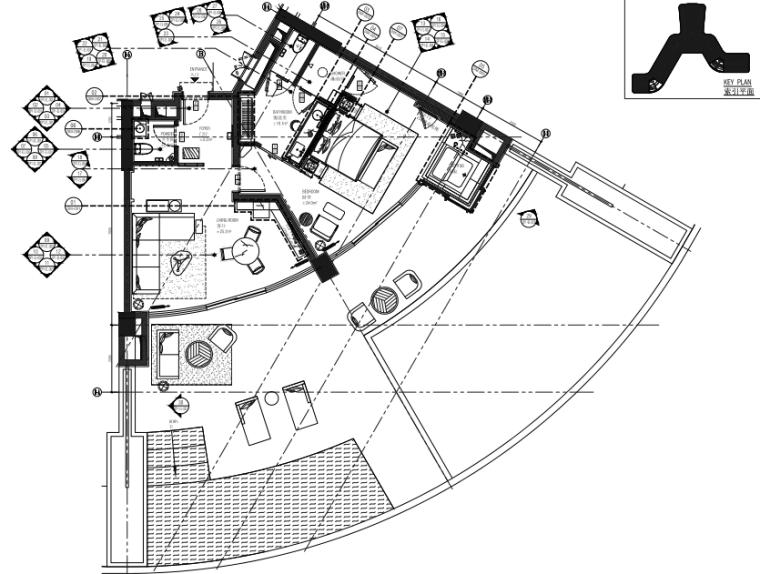 [海南]ABConcept-三亚瑰丽酒店室内装修施工图+方案+效果图