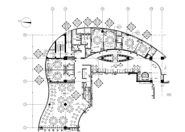 北京五星酒店中餐厅装修CAD施工图