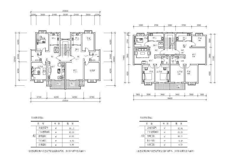 25个多层住宅经典户型图(CAD图纸)