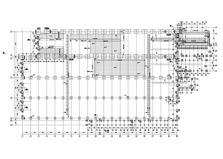 [上海]单层36.8m钢排架厂房结构施工图2010