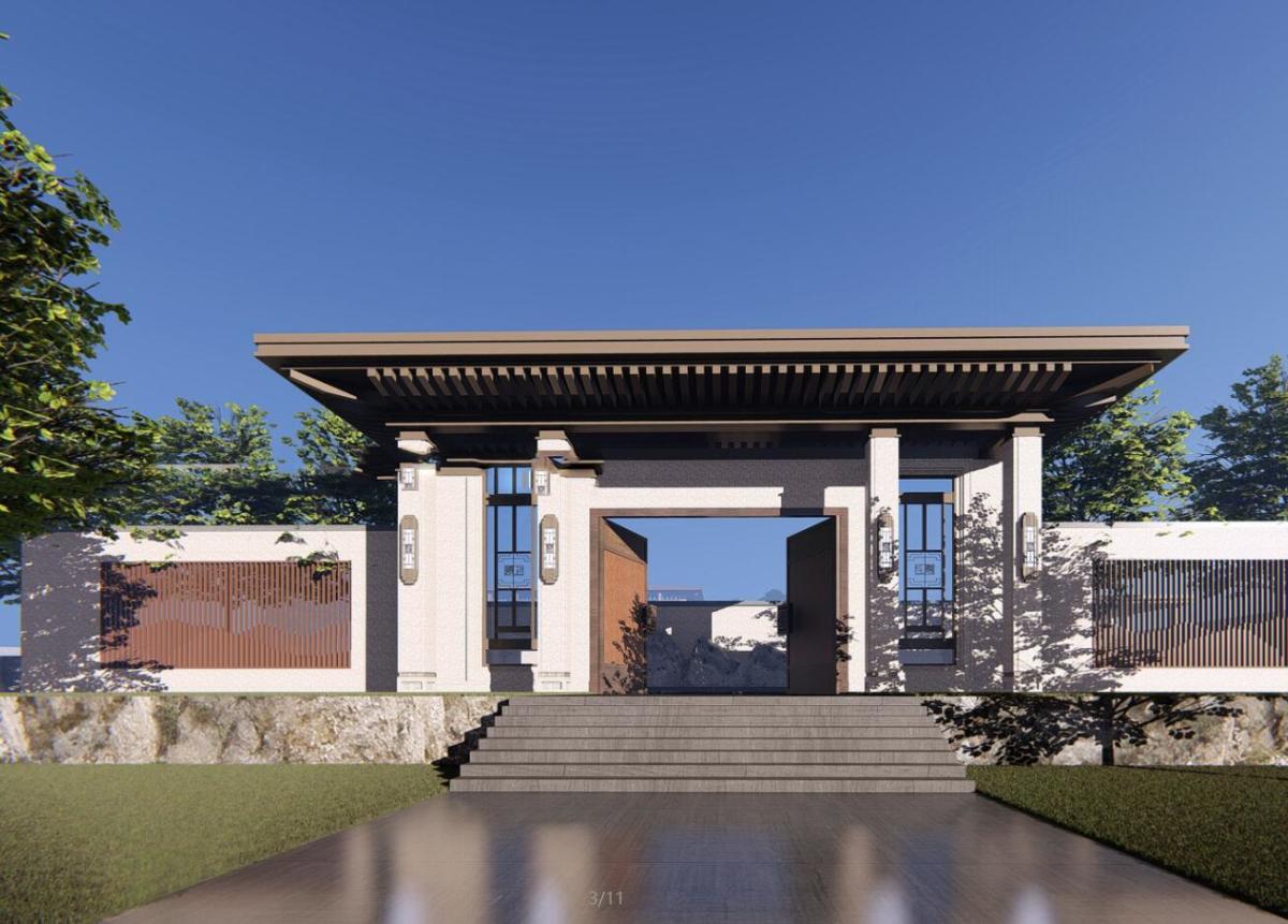 [湖北]武汉金科城售楼处示范区+T4叠拼别墅建筑妹模型设计
