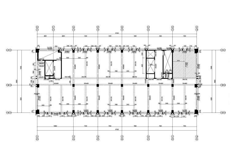 24层框剪结构高层丙类厂房结构施工图2017