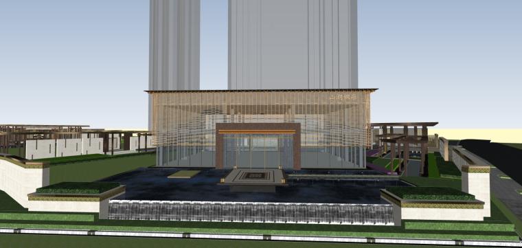 蓝光·雍锦湖山新亚洲风格示范区建筑模型设计(2018年)