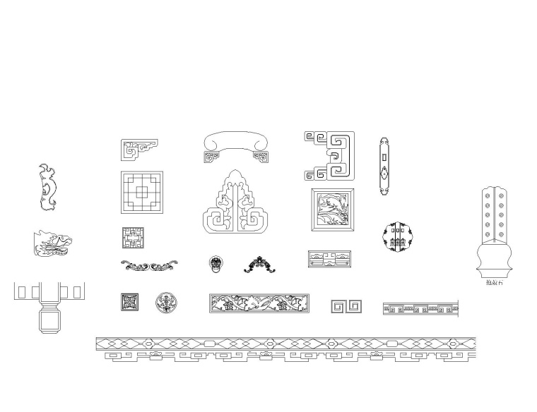 中式风格装修设计常用CAD图块