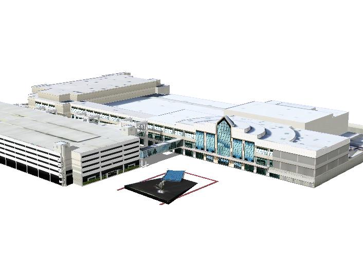 布劳沃德县会展中心建筑SU模型