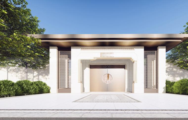 [四川]蓝光芙蓉系中式示范区居住区建筑模型设计(2018)