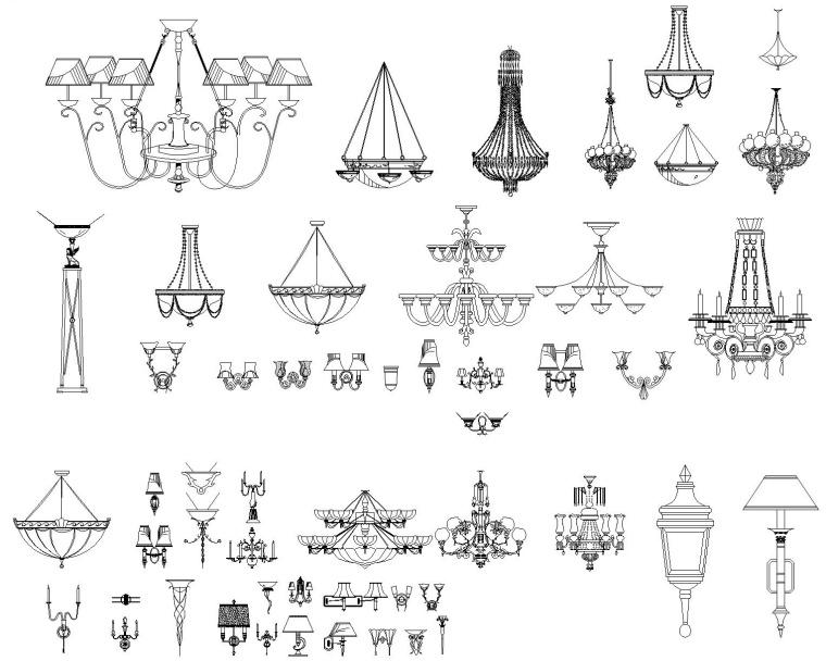 欧式风格装修设计常用CAD图块
