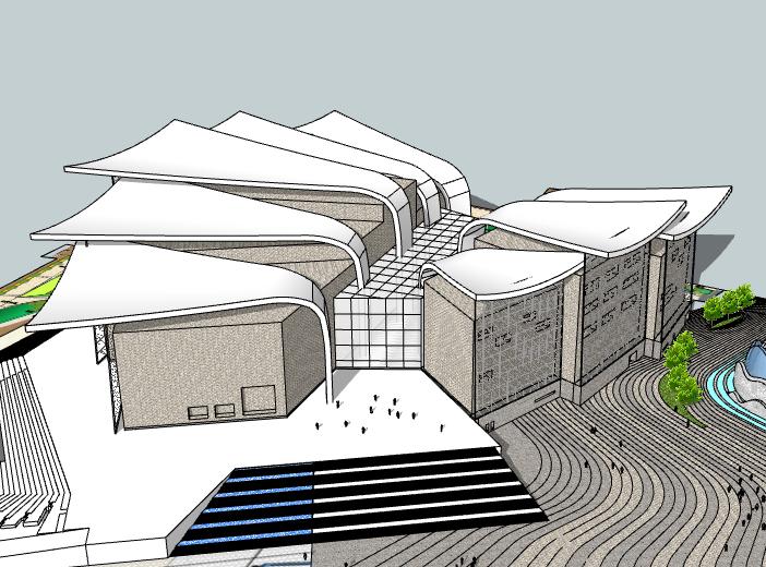 某大型博物馆建筑SU模型设计