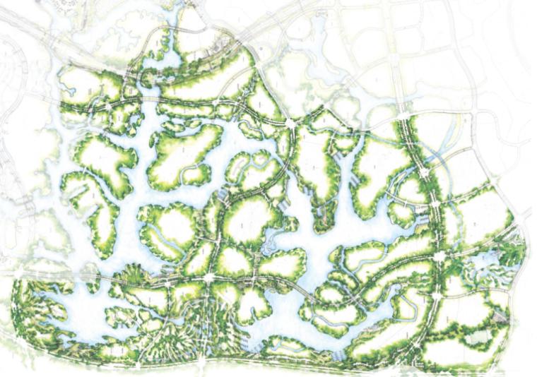 [四川]成都麓湖生态公园景观方案文本(滨湖公园)含CAD施工图及实景照片