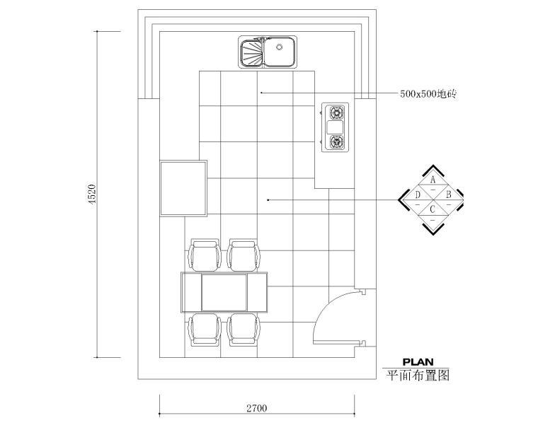 11套厨房橱柜CAD设计图纸