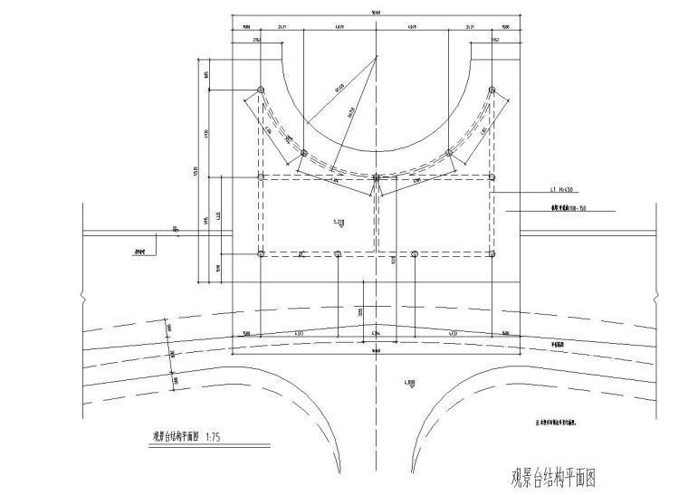 景观细部施工图—栈台平台施工图