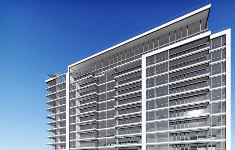 现代风格高层豪宅板建筑模型设计(2018年)