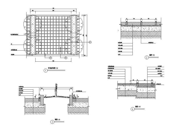 景观细部施工图—停车场地施工图设计
