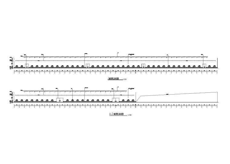 [四川]二连跨门式刚架结构厂房建筑结构施工图(2010)