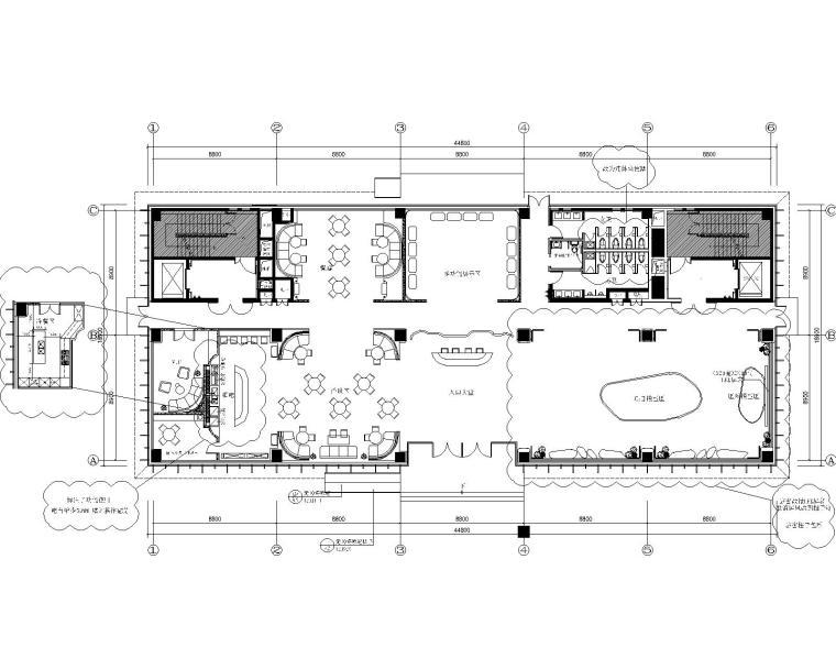 [北京]PTangStudio-北京房山邻里售楼处装修设计施工图+设计方案