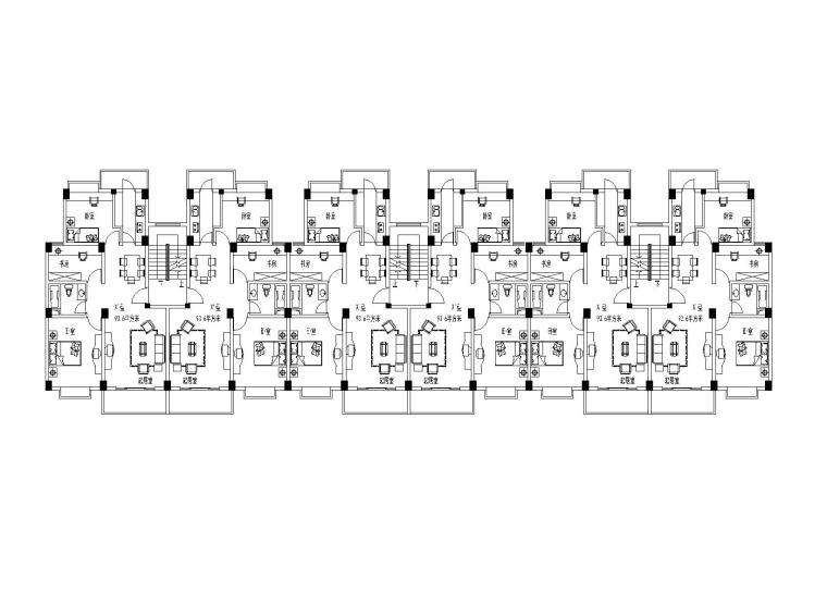 某住宅小区设计户型图(CAD)