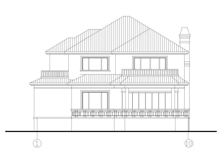 二层独栋别墅建筑施工图