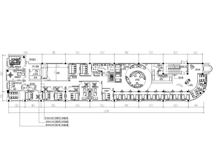 蓝山本岛咖啡厅室内装修设计全套cad施工图