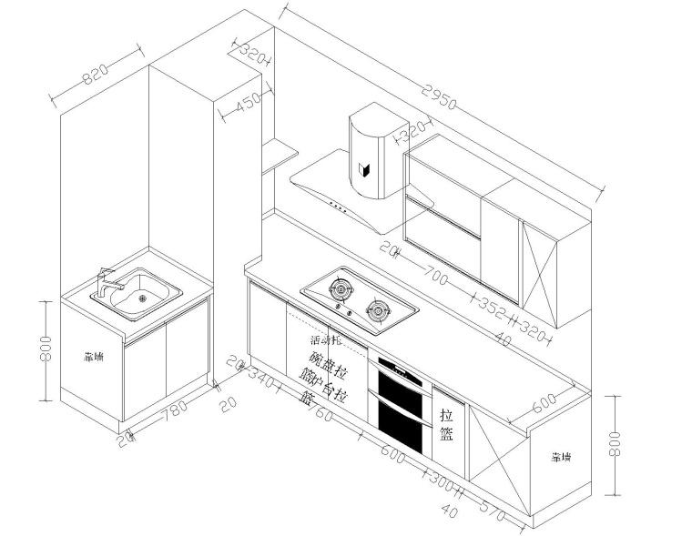 室内装修CAD三维橱柜图纸21套