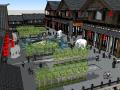 中式古文化商业街建筑模型设计