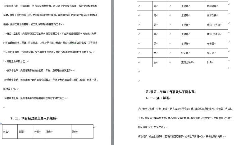 某园林绿化工程施工组织设计文本(word+68页)