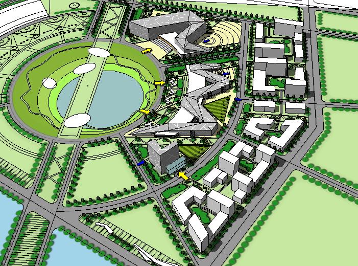 [山东]东营市文化艺术中心建筑模型设计
