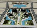龙口文化中心建筑模型设计