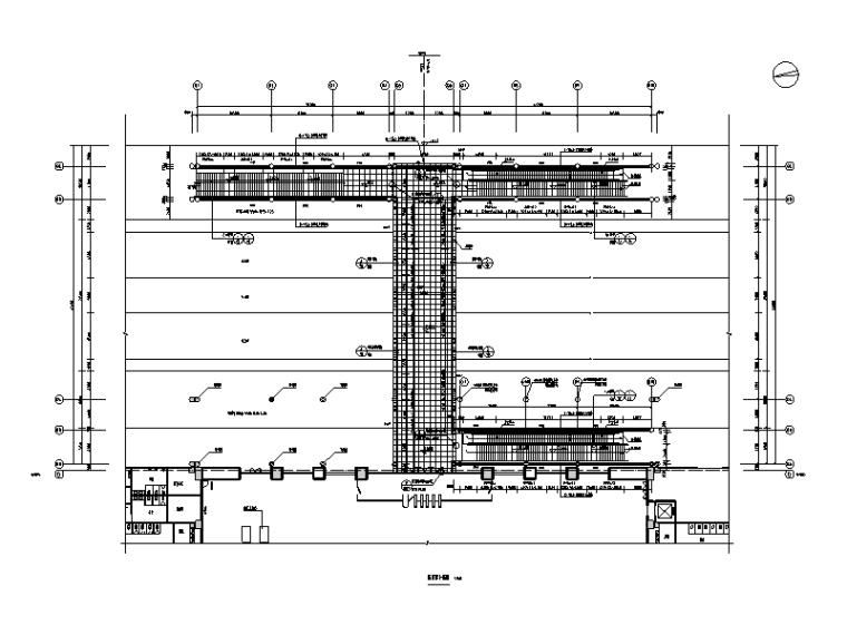 火车站钢桁架旅客天桥建筑结构施工图2015