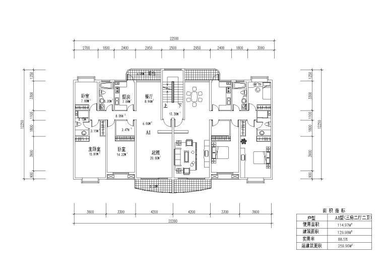 12套住宅户型设计施工图纸(CAD)