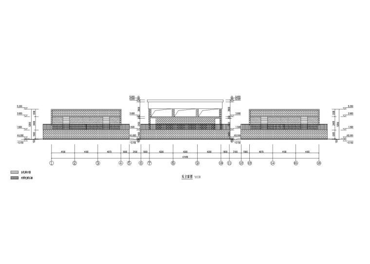 学校操场框架结构看台施工图(建筑结构电气,2017)