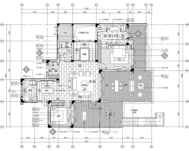 [浙江]内建筑-安吉绿城桃花源3居室别墅样板房施工图+效果图+考察实景