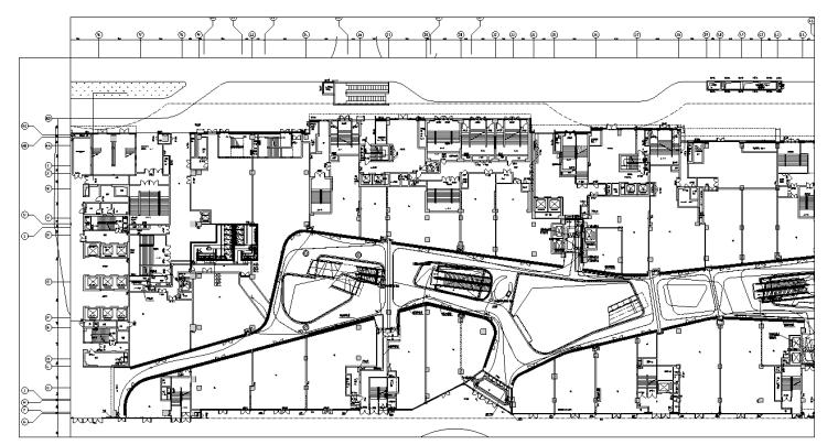 成都城市综合体商业裙楼及地下室施工图纸