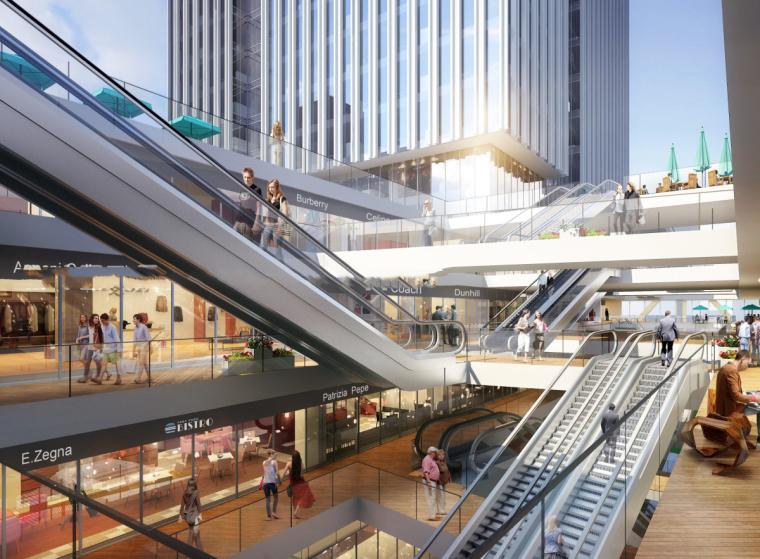 [江苏]苏州吴中广场超高层综合体建筑模型设计(办公+酒店日清)