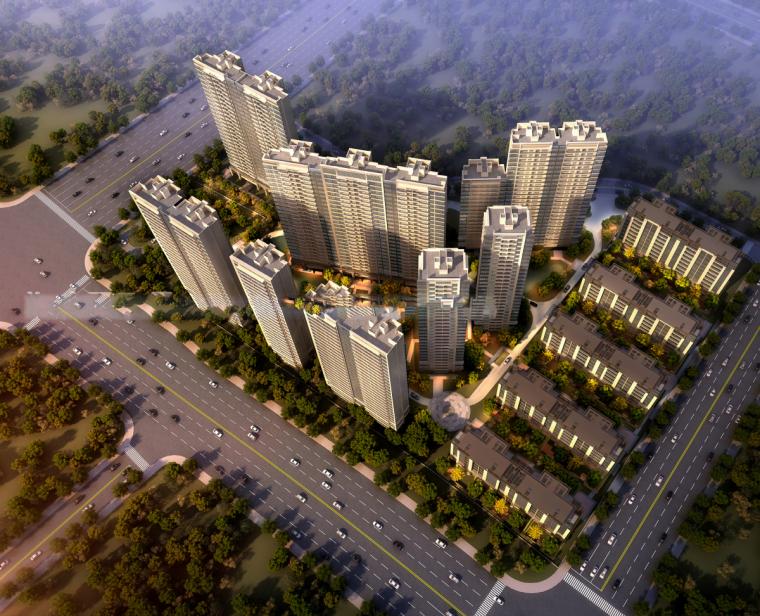 [浙江]杭州钱江世纪城龙湖天璞豪宅项目建筑模型设计