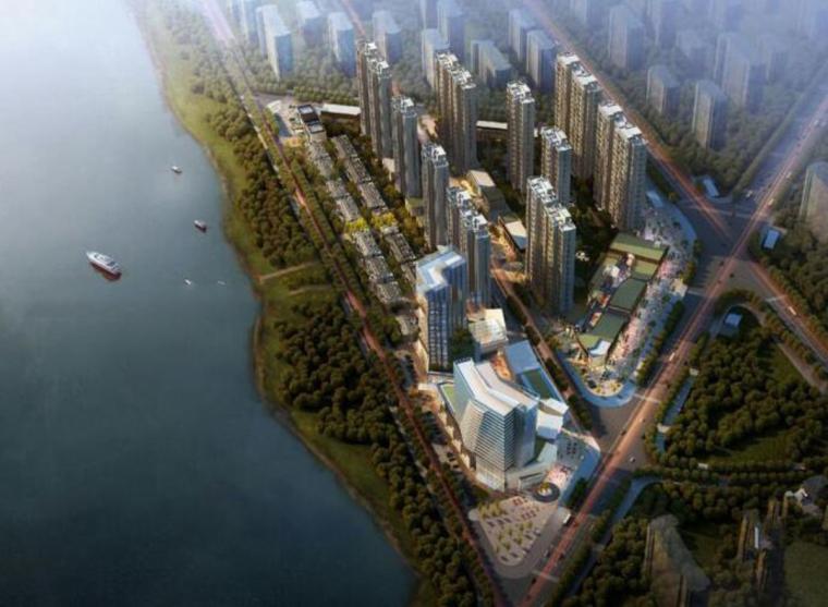 [江苏]阳光城苏州吴中尹山湖阳光天地商业广场+希尔顿酒店模型设计