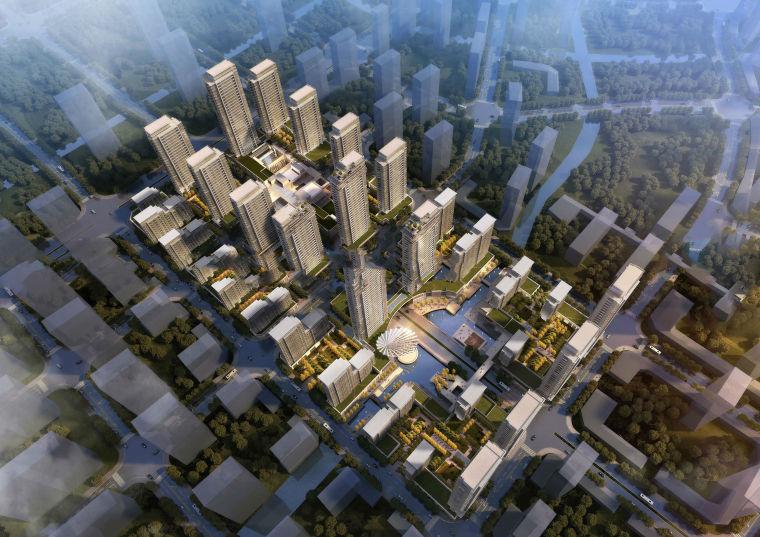 [山东]济南鲁能张马片区现代风格高层+商业+示范区模型设计