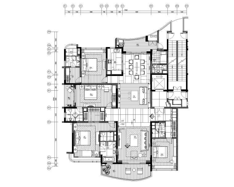 [广东]LTW-广州雅居乐四居室样板间装修施工图+概念方案+物料+完工实景
