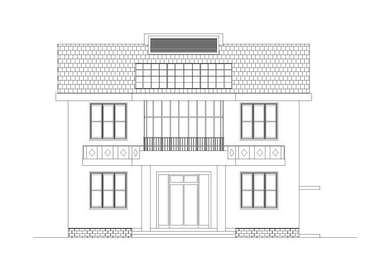 新中式独院式别墅建筑施工图(CAD)