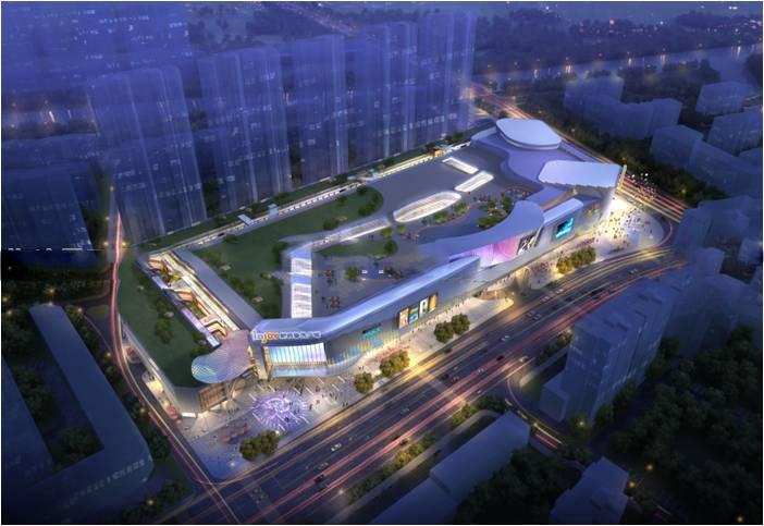泰兴吾悦广场商业综合体建筑模型设计(2018年)