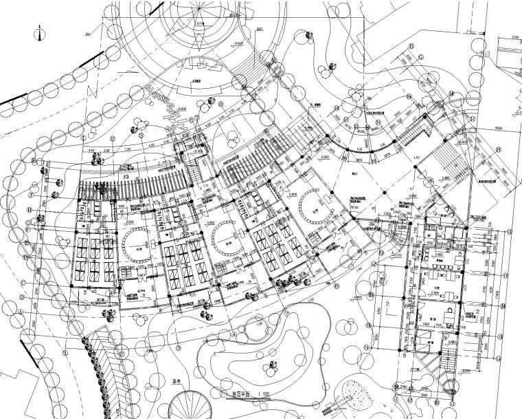 16套幼儿园景观CAD平面图(有建筑立面图,景观,室内平面图)