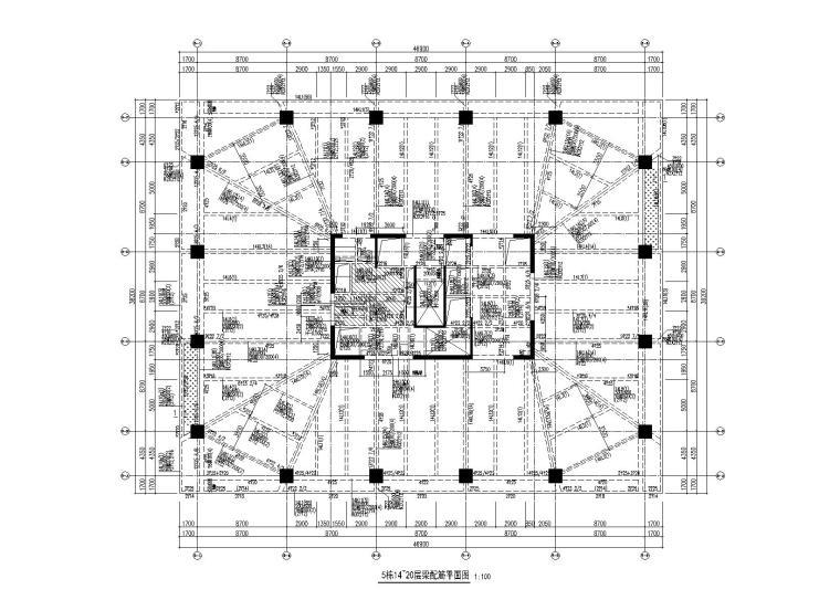 禪城綠地金融中心全部建筑施工圖(建筑結構,2013)