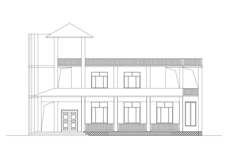 现代风格独栋别墅建筑施工图(CAD)