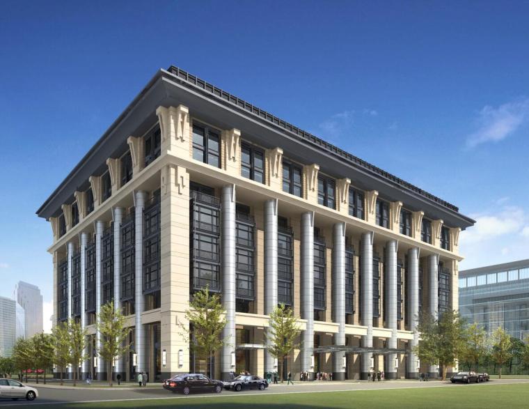 [北京]金融街E9项目政府公建办公楼建筑方案文本(欧式新古典)