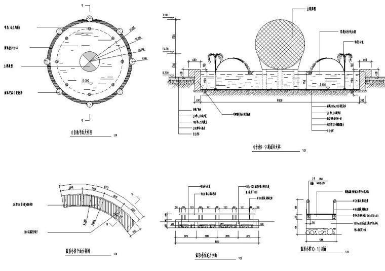 景观细部施工图—泳池浴场施工图设计