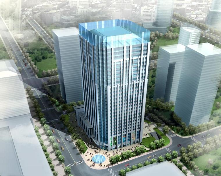 [江苏]南京百汇国际办公楼建筑方案文本设计