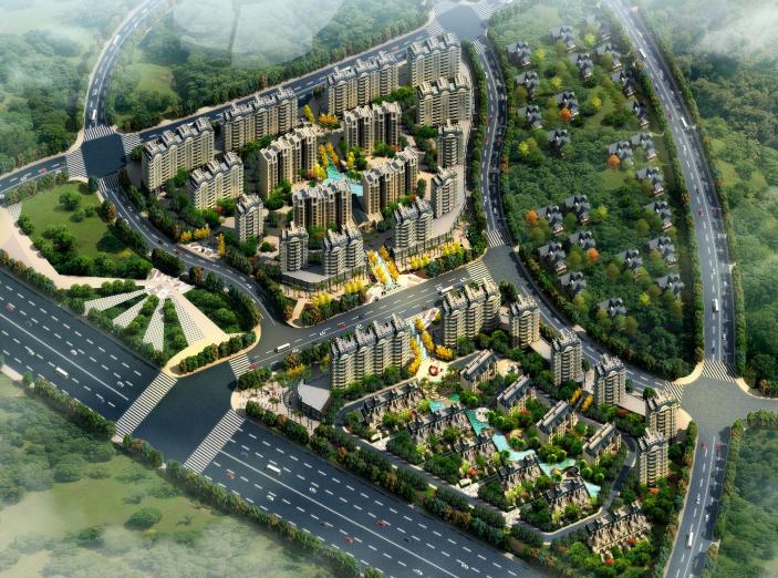 [安徽]丽景天成住宅小区规划建筑方案设计文本(JPG+63页)