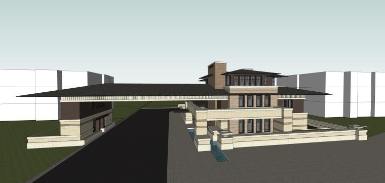 万科售楼处建筑模型设计(2018年)