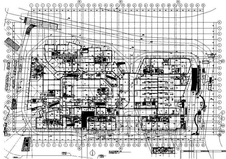 上海新江湾城办公裙房及地下电气施工图