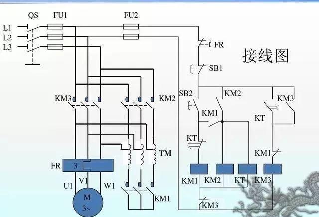 15个常见的电工中级电路图,会操作12个才算得上是电工老师傅!_7