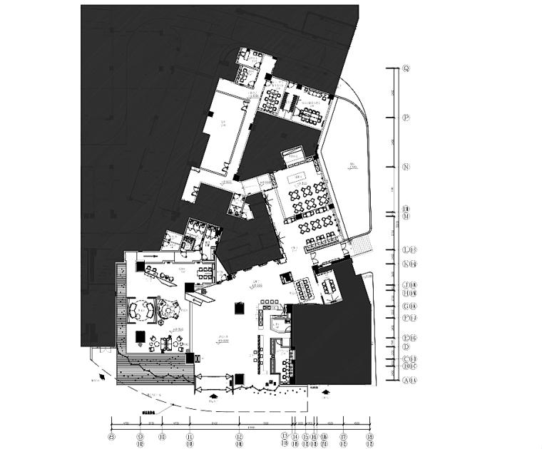 [广东]香港加设计-清远市希尔顿欢朋酒店装修图纸+软装方案+照明设计